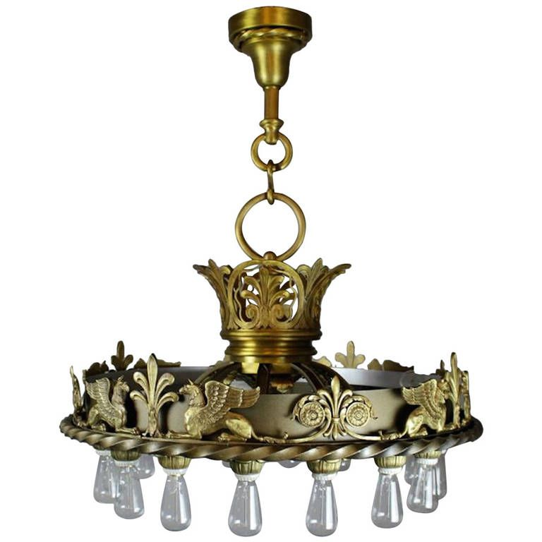 Commercial Beaux-Arts Chandelier from the Masonic Lodge Kansas ...:Monumental Commerical Beaux-Arts Chandelier | From a unique collection of  antique and modern chandeliers,Lighting