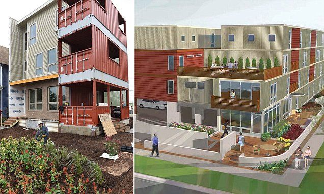 This detroit shipping container home was built in just six hours three floor building and - Houses built inhours ...