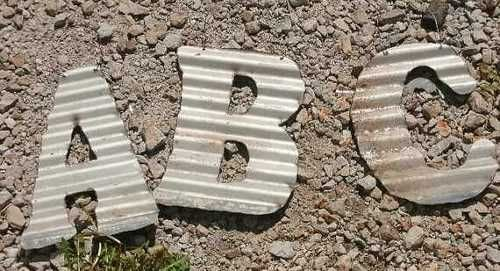 Recycled 10 inch old barn roofing tin letters & numbers by junkfx