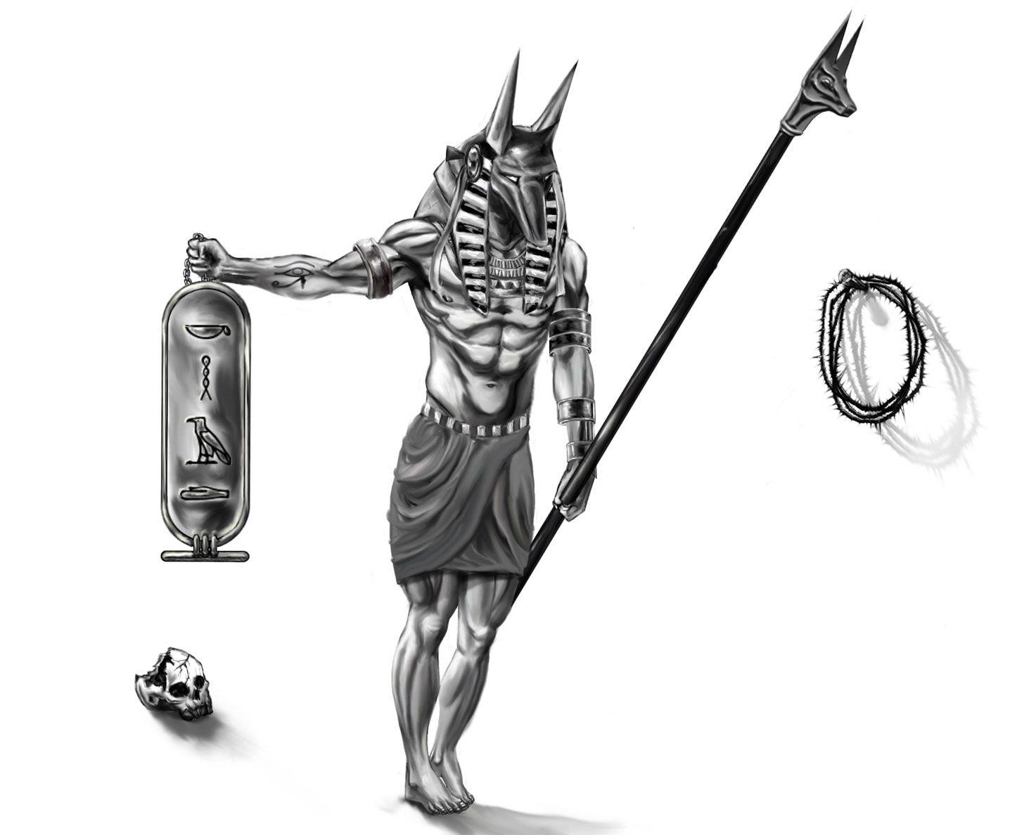 Egyptiansymbolsforanubistattoos Egyptian Tattoo Designs Anubis