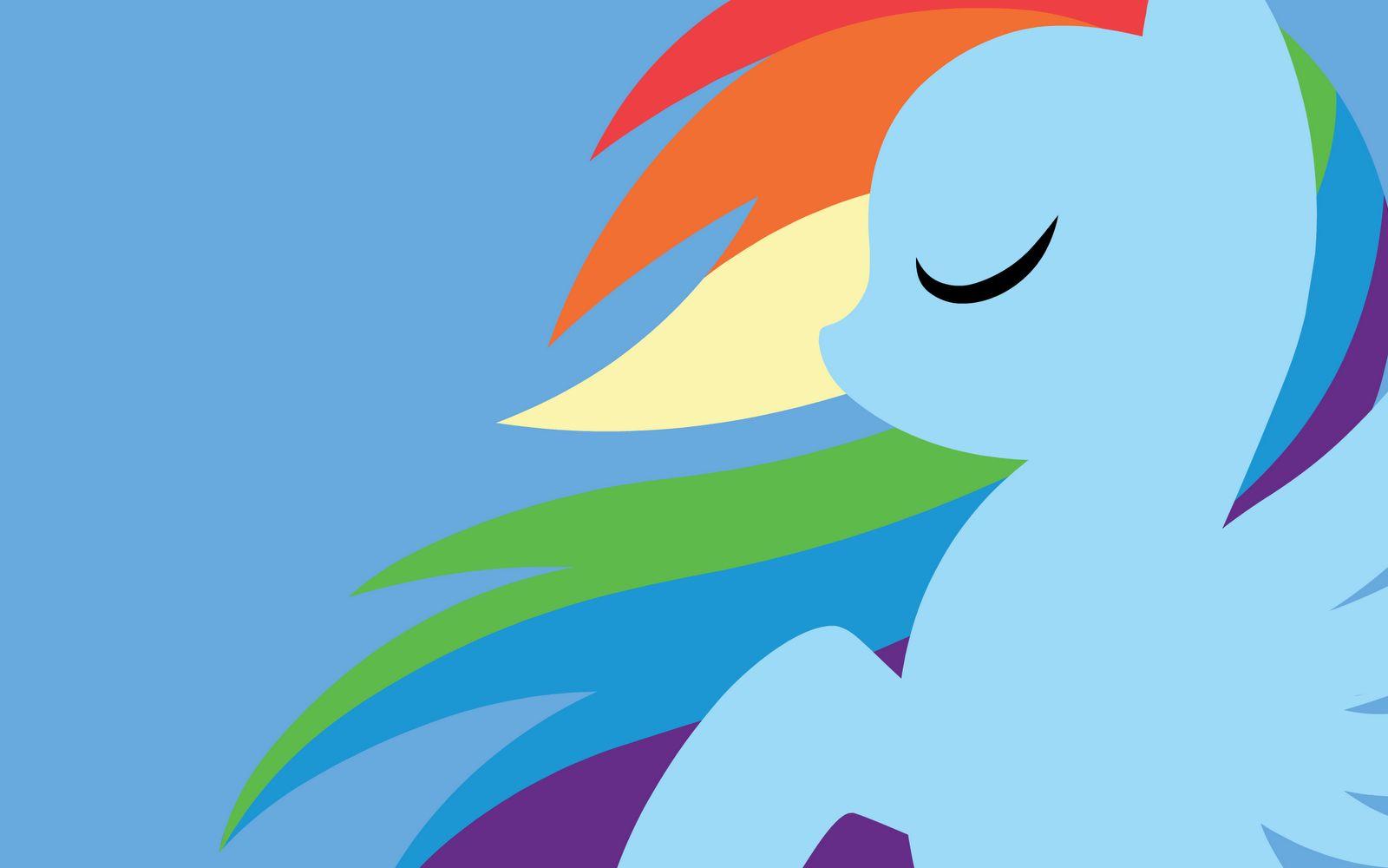 Rainbow Dash Silhouette My Little Pony Episodes My Little Pony
