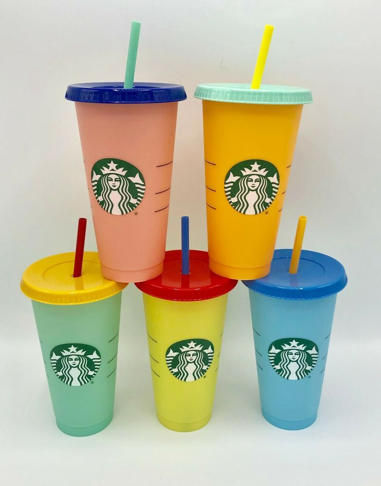 SINGLE Reusable Starbucks Color Changing Cold Cup • NEW • 2019 • Summer