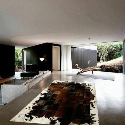New Cowhide Rug Patchwork Leather Carpet Cowskin Cow Hide Leather Brown And White Patchwork Cowhide Rug Cow Hide Rug Leather Rug