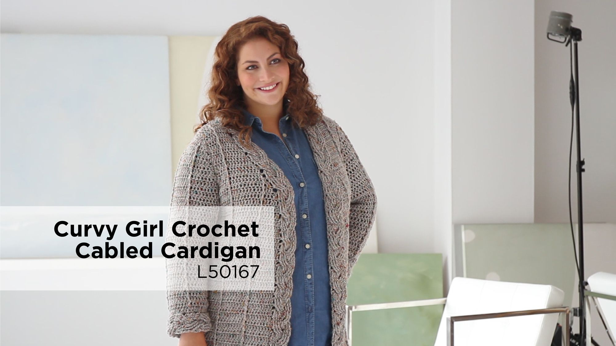 curvy girl crochet cabled cardigan free pattern from Lion ...