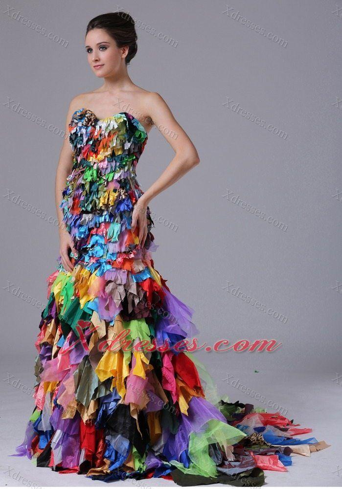 Multi Color Prom Dress