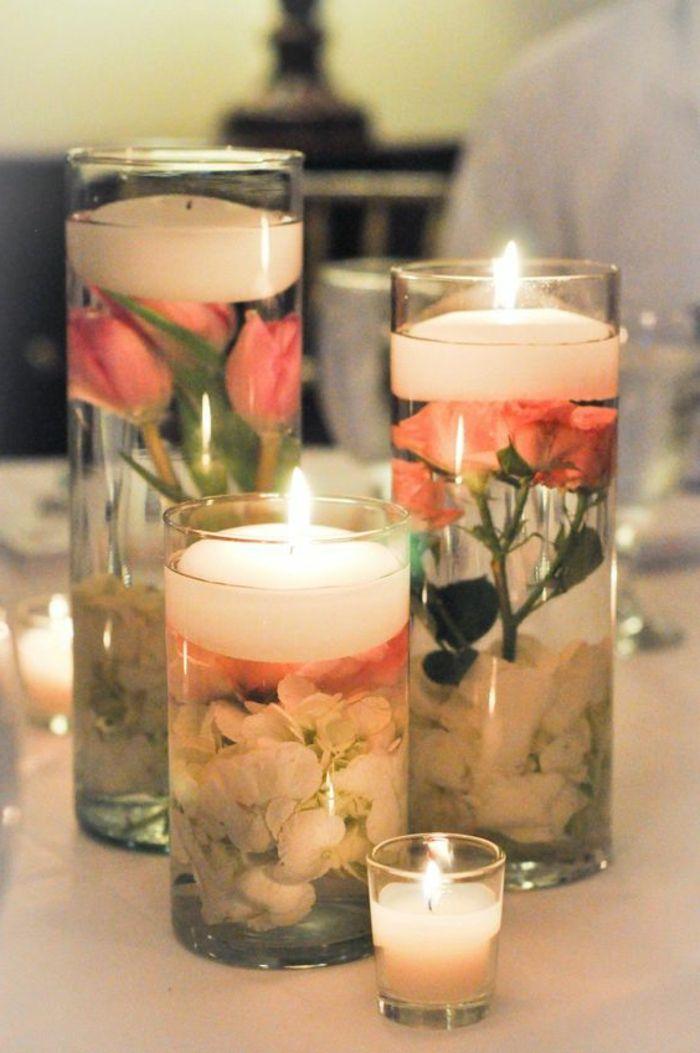 Schöne Tischdeko Selber Machen diy gelkerzen mit blumen schöne tischdeko selber basteln