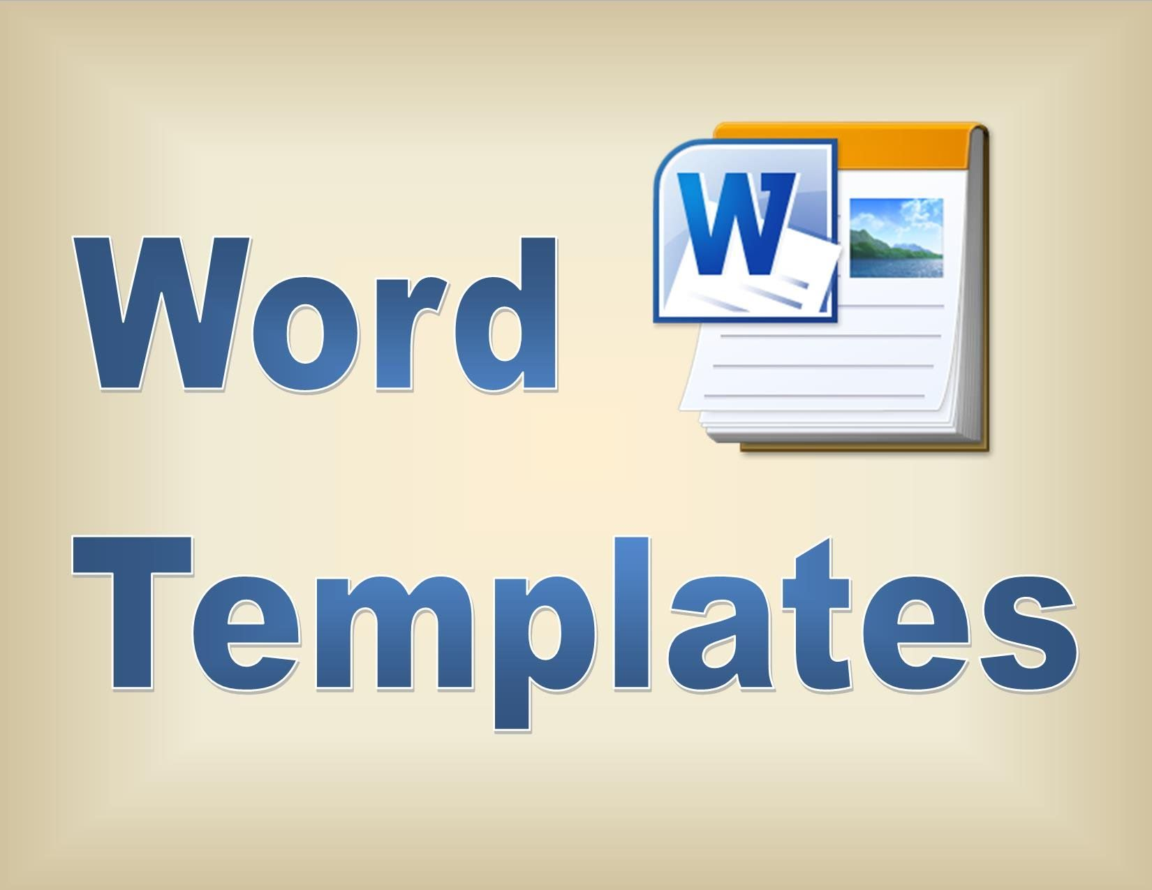 making templates in microsoft word