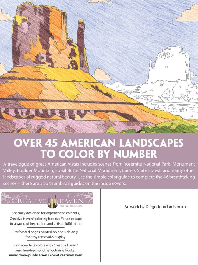 Welcome To Dover Publications Colorful Landscape Coloring Books Dover Coloring Pages