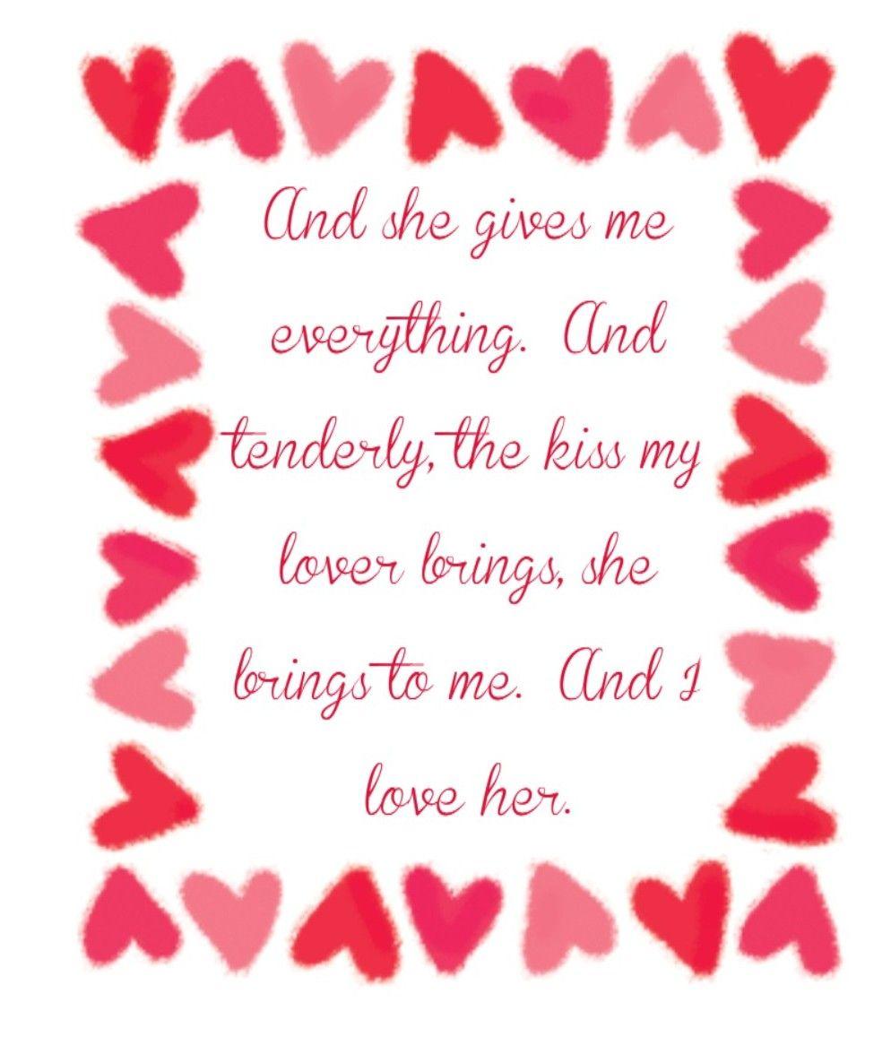 The Beatles And I Love Her Beatles Lyrics Great Song Lyrics