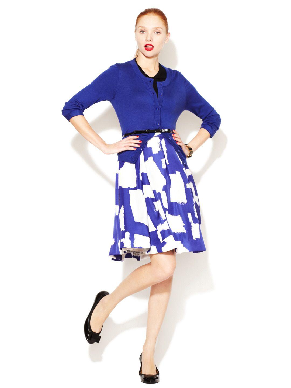 Jolie Pleated Silk Skirt by kate spade new york at Gilt.com