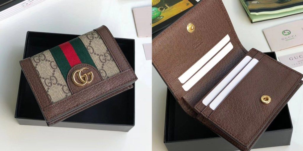 quality design 72ade 7d871 Gucci Ophidia GG card case 523155 | Luxury Wallets in 2019 | Card ...