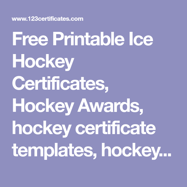 Free printable ice hockey certificates hockey awards hockey free printable ice hockey certificates hockey awards hockey certificate templates hockey printables yadclub Images