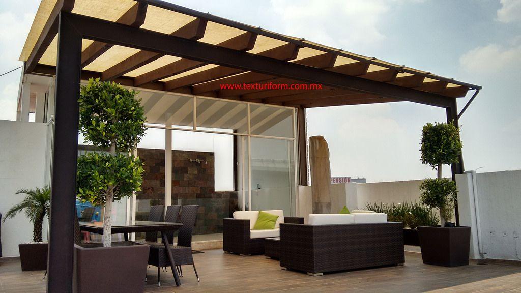 Terrazas texturiform en 2019 terraza adriana terrazas terraza jardin y casas - Pergola terraza atico ...