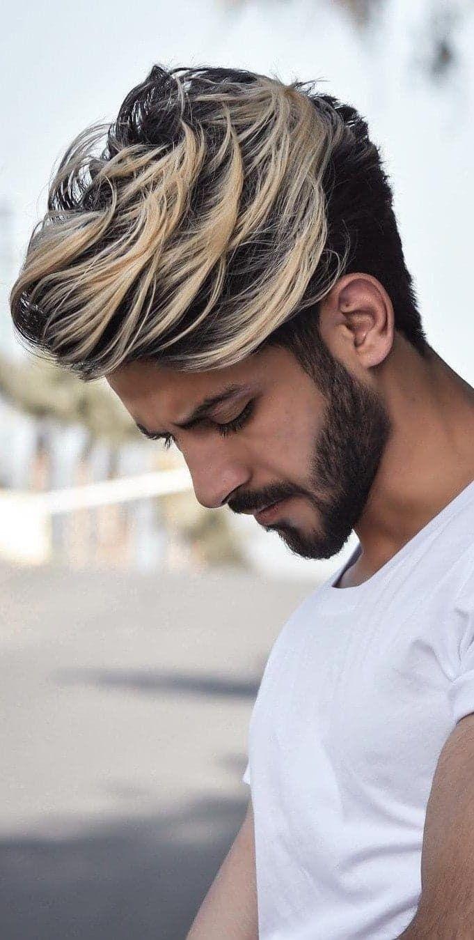 Pin By Edwyn On Men Hairstyle In 2020 Long Hair Styles Men Mens Hair Colour Gents Hair Style