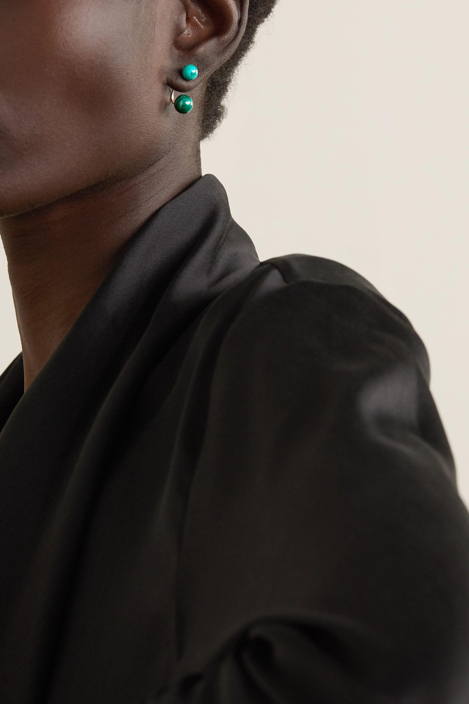 Polished Malachite Stacked Earrings