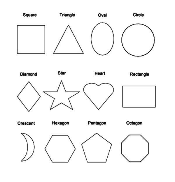 Shapes Coloring Pages Shape Coloring Pages Shapes For Kids Kindergarten Colors