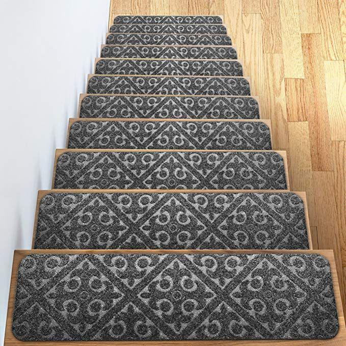 Best Carpet Stair Treads Set Of 13 Non Slip Skid Rubber Runner 640 x 480