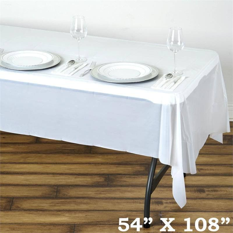 Whole Ivory Table Cloth Covers Plastic Cover Disposable Waterproof