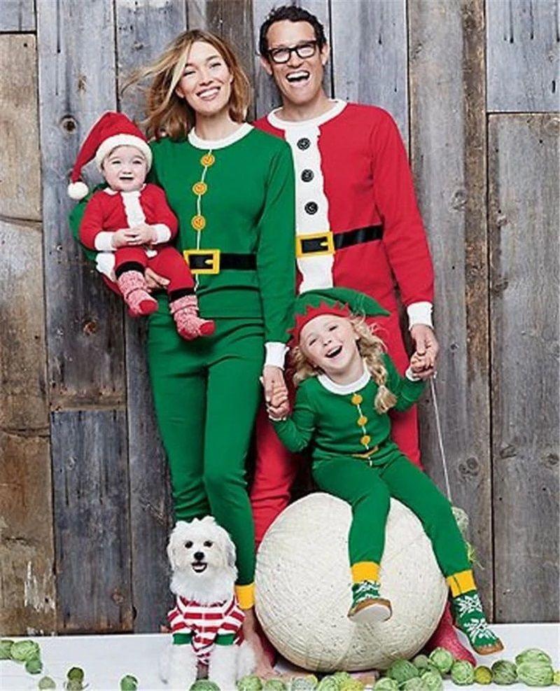 Xmas Family Pajamas Christmas Loungewear Nightwear Sets Homewear Sleepwear Set