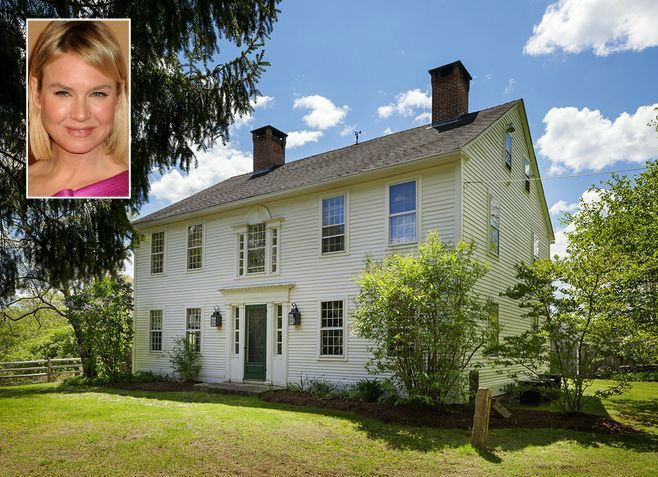 Renee Zellweger S Farmhouse For Sale In Connecticut Celebrity Houses Colonial Cottage Conneticut Homes