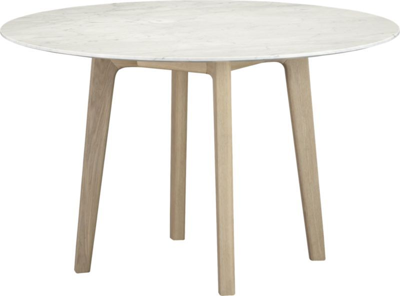 Informal Dining Room Table With A Marble Top For Eat In Kitchen: Jensen Dining  Table | Crate And Barrel For $999.