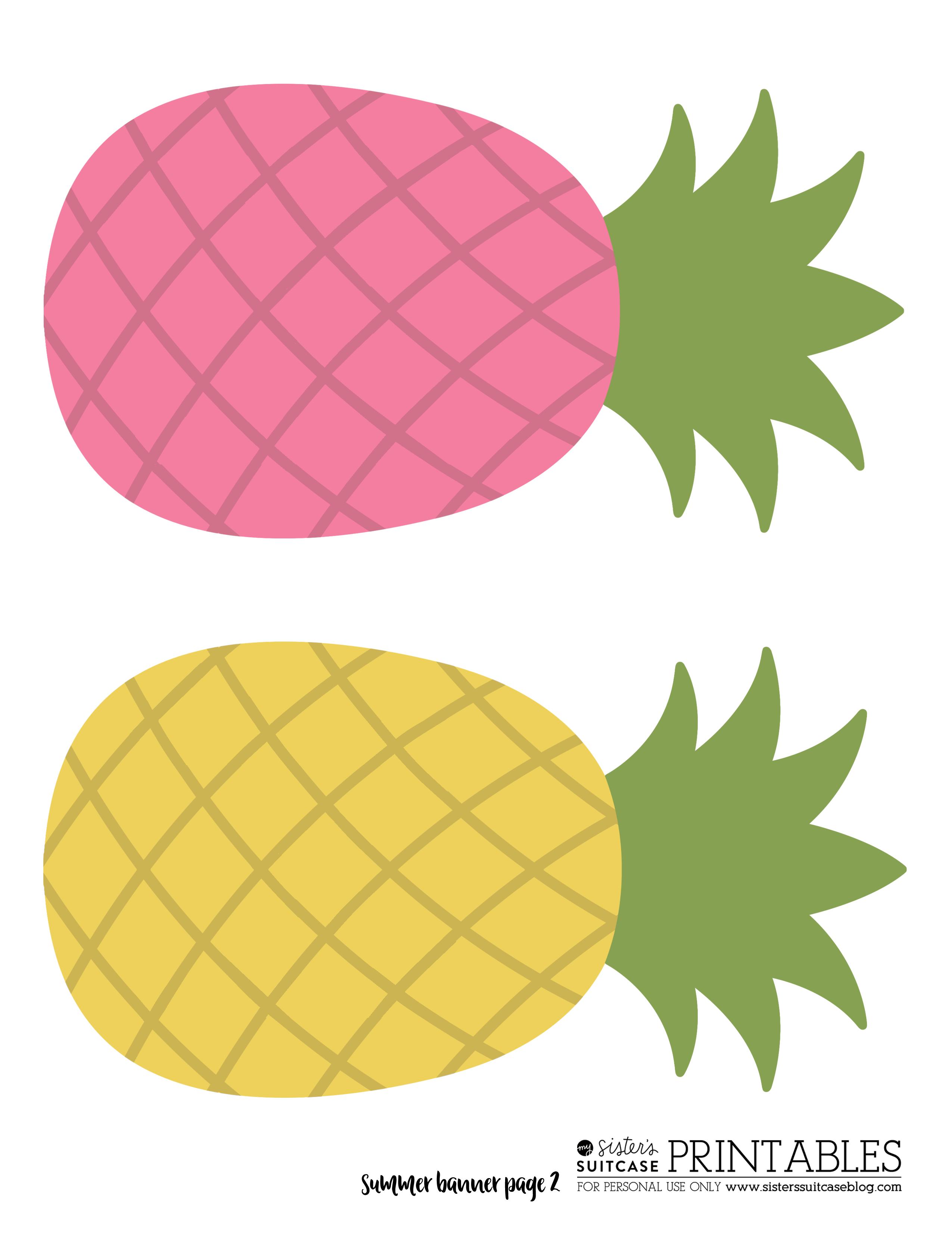 Pineapple Banner | Parties | Pinterest | Banners, Classroom decor ...