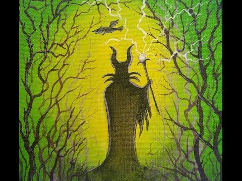 Maleficent Disney Villains Art Crawl