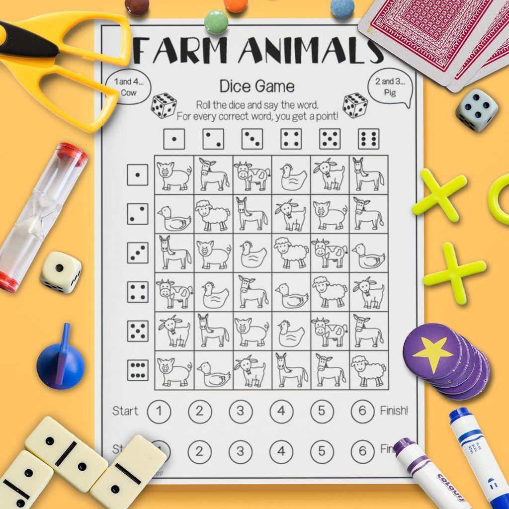 Farm Animal Dice Game