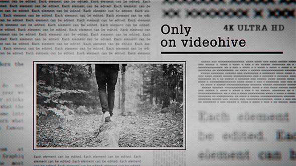 Newspaper Slideshow 4k Weddings Video Pinterest After Effects