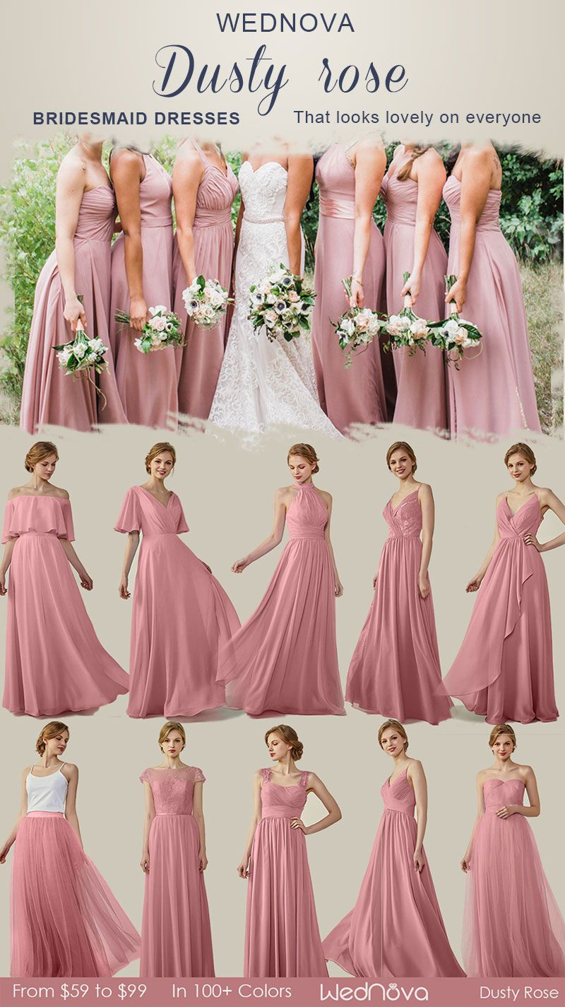 cc95f78bcbb Lovely dusty rose bridesmaid dresses with spaghetti straps sexy halter  dresss affordable chiffon long dress  bridesmaids pink bridesmaid dresses