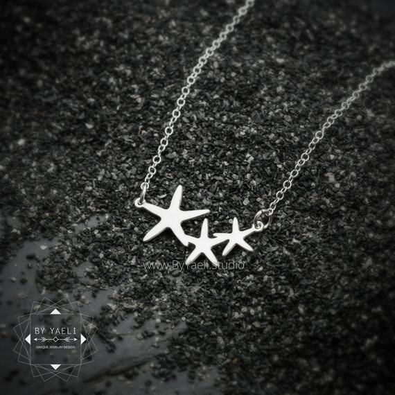 Photo of Silver starfish necklace silver necklace minimalist necklace dainty necklace simple necklace ocean jewelry simple necklace unique jewelry