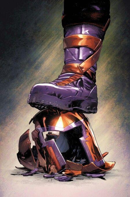 Crushed Magneto Helmet