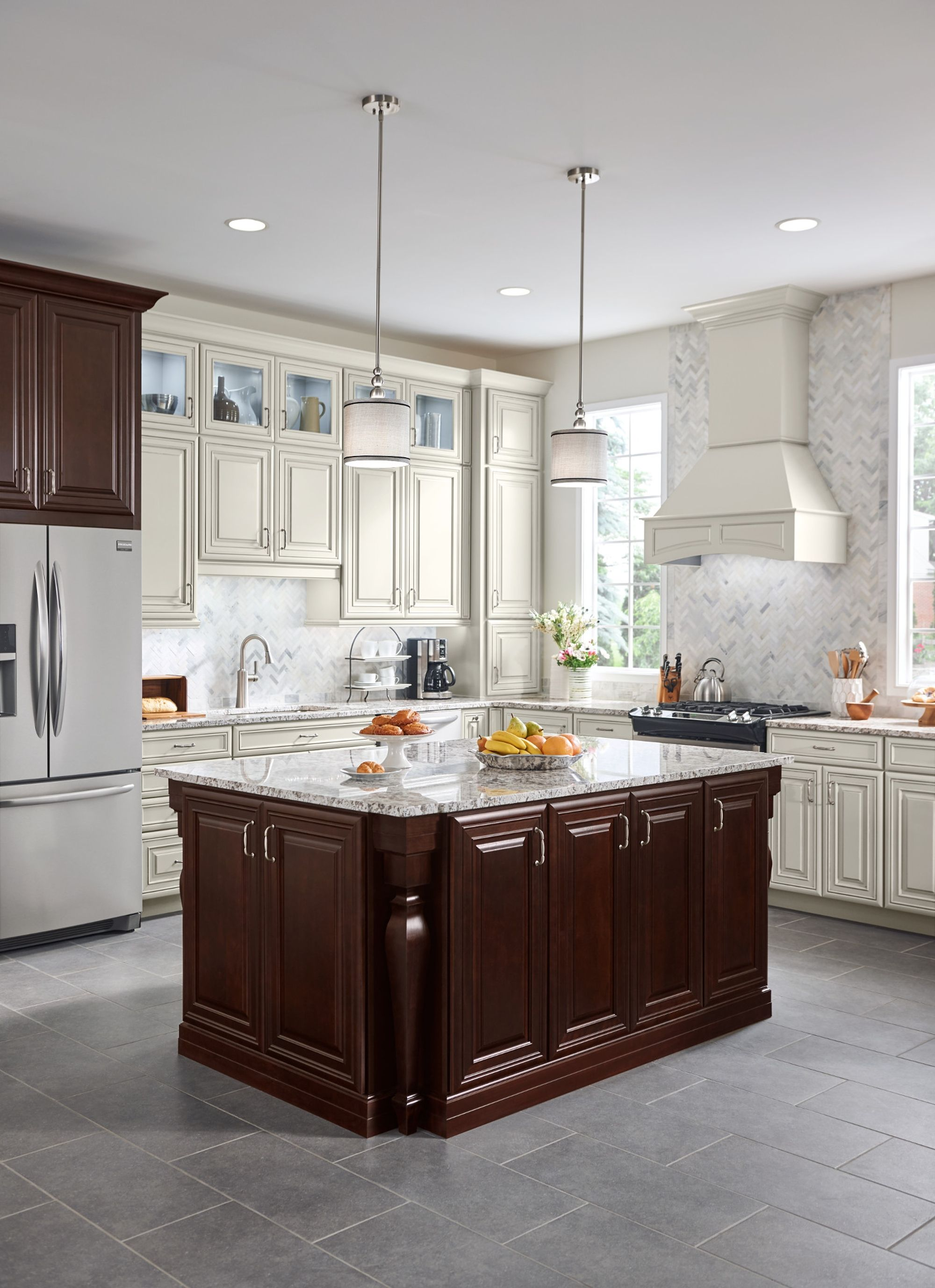 Mocha Glaze Kitchen Cabinets Mitered Cabinet Doors Westfall In