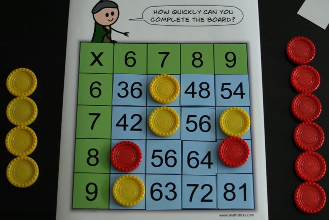 Practice Those Really Tricky 6x 7x 8x And 9x Tables With This