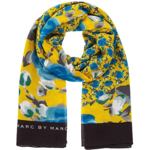 Spliced Jerrie Rose Scarf ($79) ❤ liked on Polyvore featuring accessories, scarves, yellow jacket multi, floral shawl, floral scarves, print scarves, viscose scarves et wrap shawl
