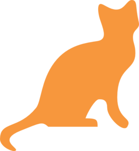 Cat orange. Silhouette clip art vector