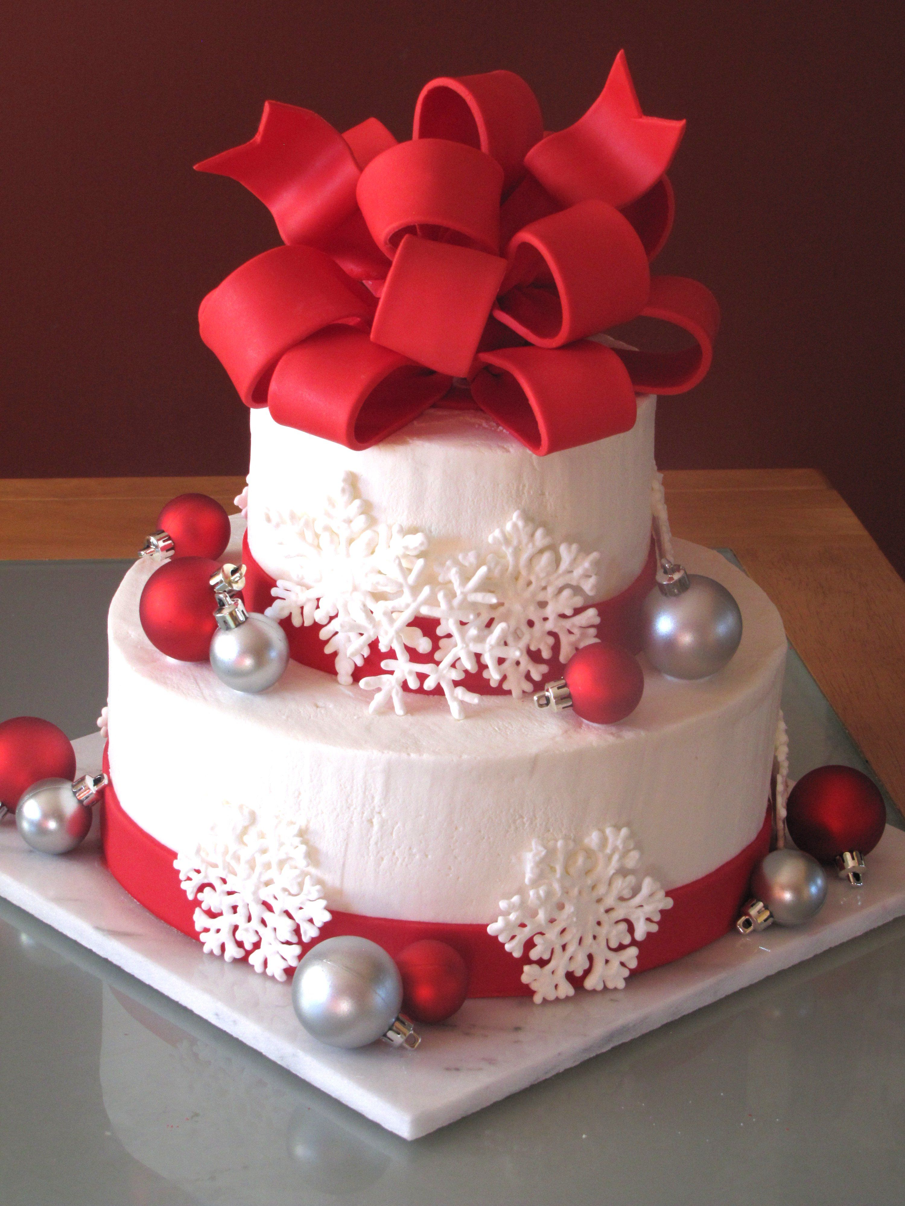 Christmas Wedding Cake Baking Pinterest Gateau Noel Noel And
