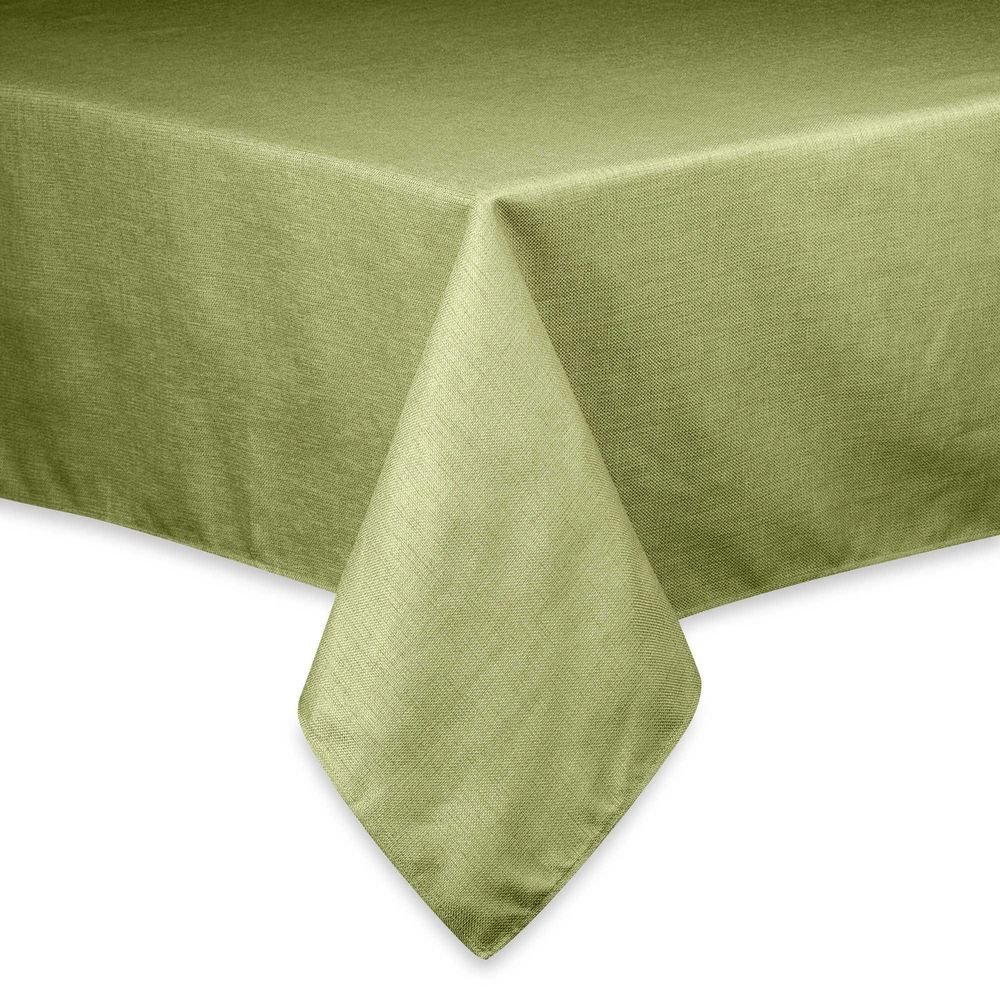 Basketweave Easy Care Tablecloth 52 X 52 Inch Sage