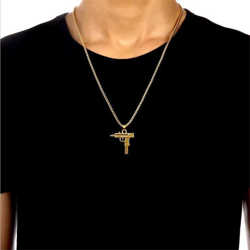 Hot Sale Gold Chain Hip Hop Long Necklace Men Women Fashion ...