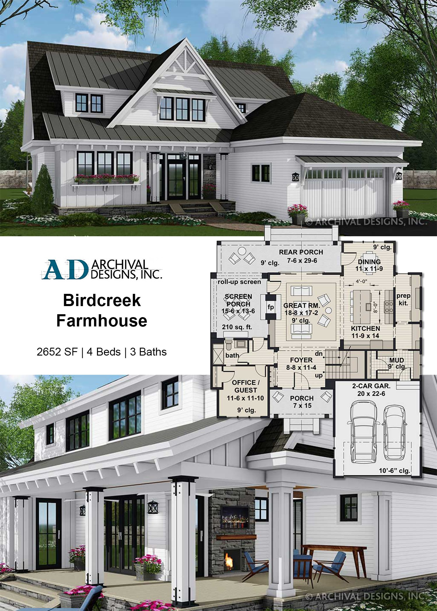 Birdcreek House Plan Craftsman House Plans