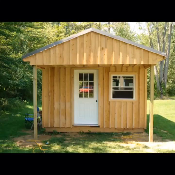 How To Build A 12x20 Cabin For Only 2 200 Video Building A Small Cabin Building A Cabin Diy Cabin