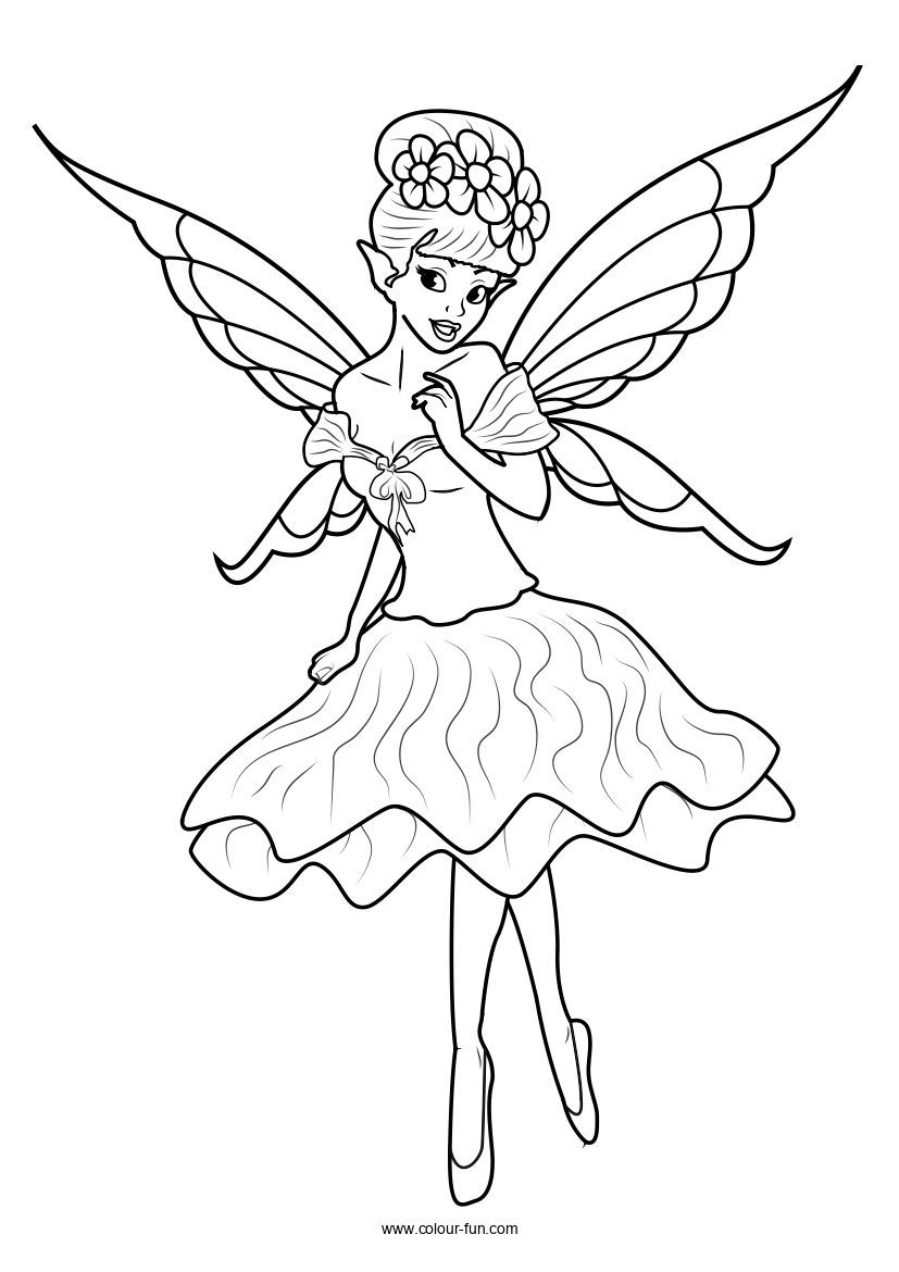 Free Pdf Downloads With A Single Click Click On The Image To Go To The Download Page Fairy Fairy Fa Fairy Coloring Pages Fairy Coloring Cute Coloring Pages