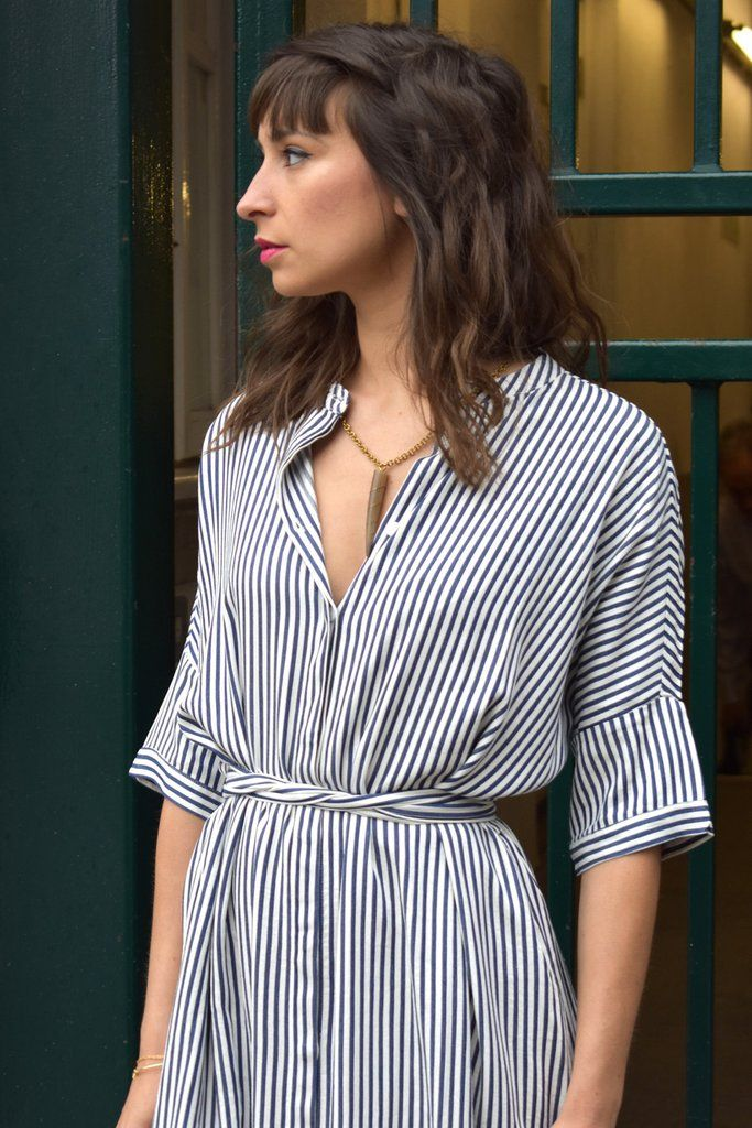 b64c90ad976 Just Female Beach Stripe Shirt Dress