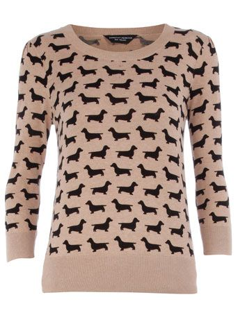 dachshund pattern sweater!