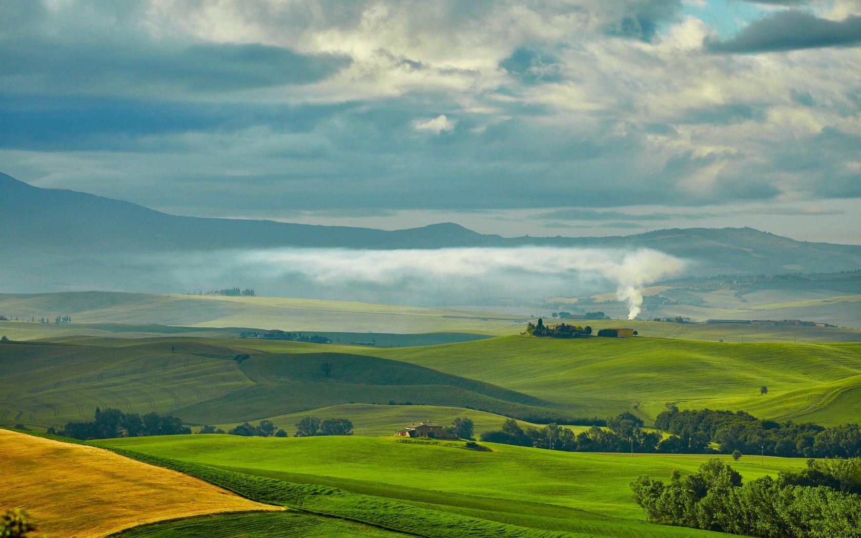 Скачать обои италия, тоскана, поля, луга, равнина, раздел ...
