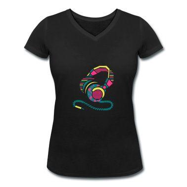Ein Kopfhörer aus  Muster und Streifen ideal für dunkle T-Shirts