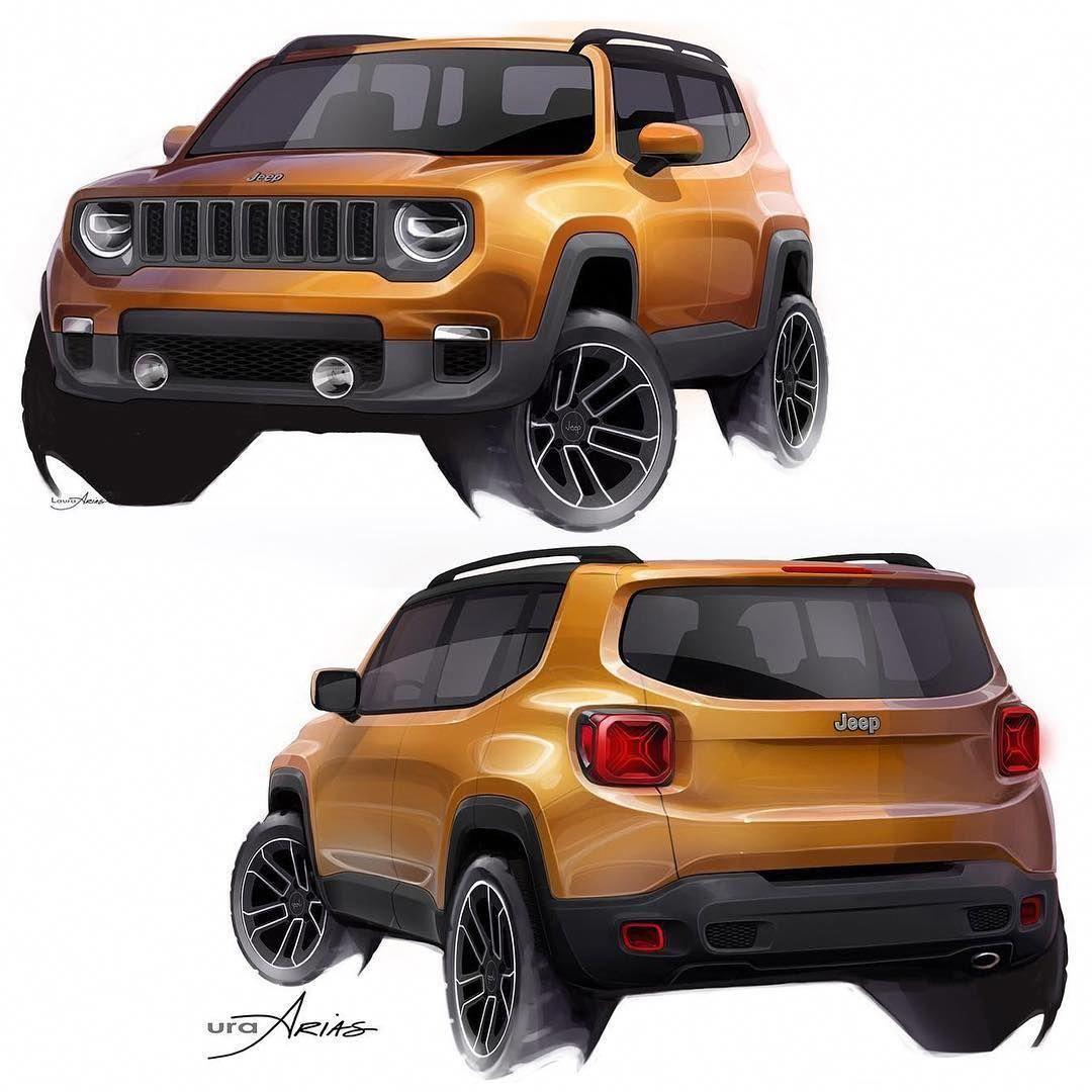 Jeep Renegade Sketch Jeeprenegade Jeep Renegade Jeep Renegade