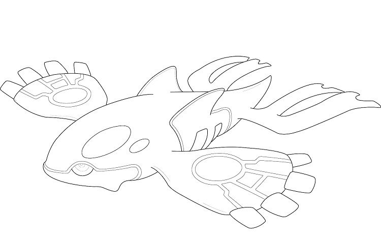 Pokemon Coloring Pages Kyogre