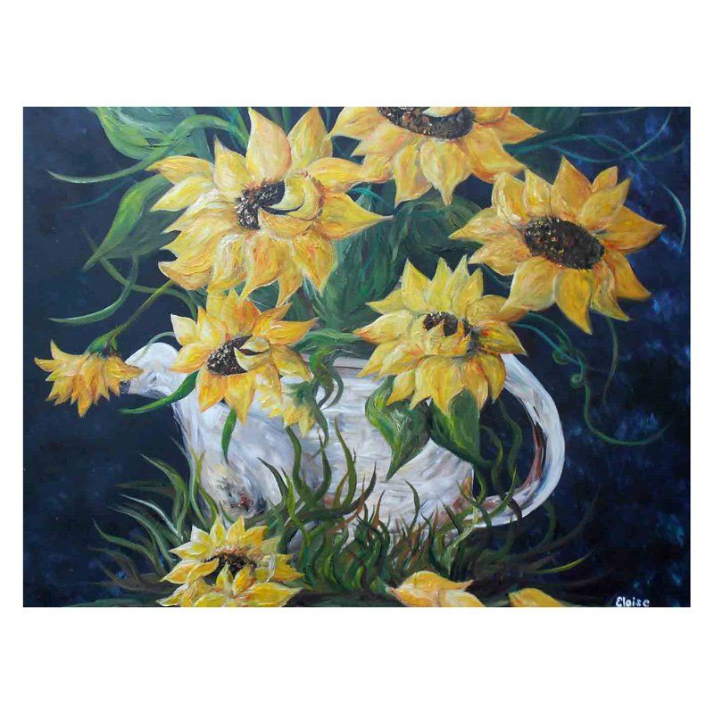 Louis Leonard Art Sunflowers in Country Pot by Eloise Schneider ...