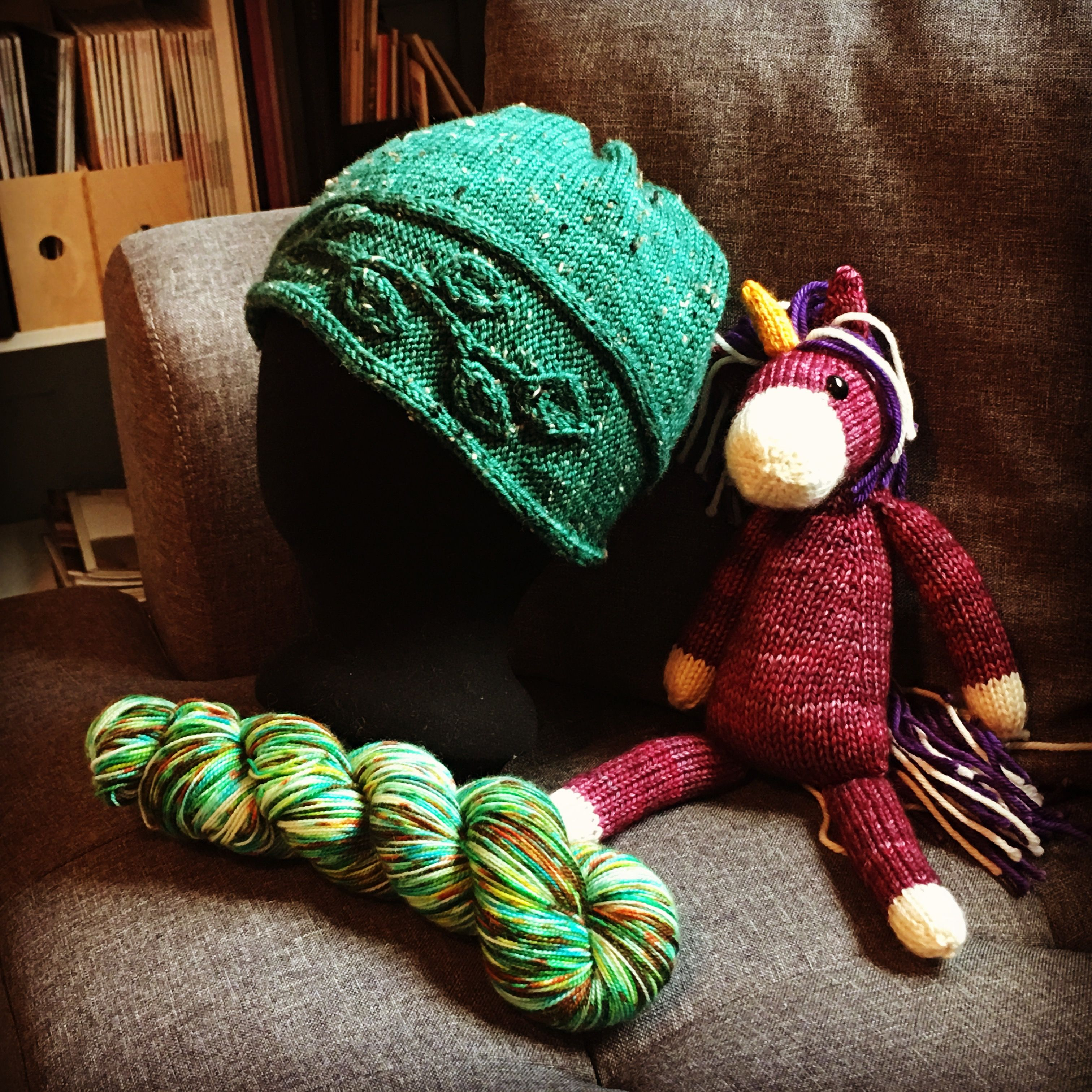Sprig hat pattern knit in Tweed DK from Jorstad Creek ...